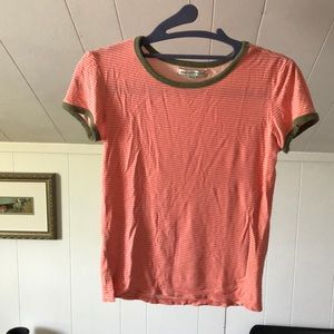 American Eagle Outfitters Striped Baby Tee